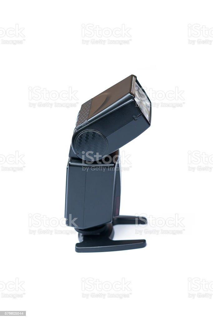 Camera Flash Speed isolated on white stock photo