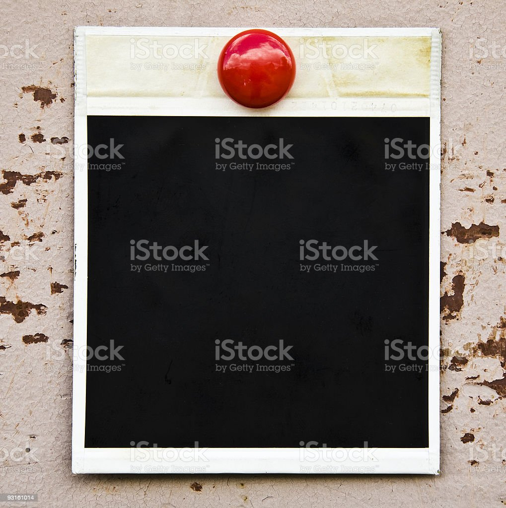 Camera Frame On Metal Background royalty-free stock photo