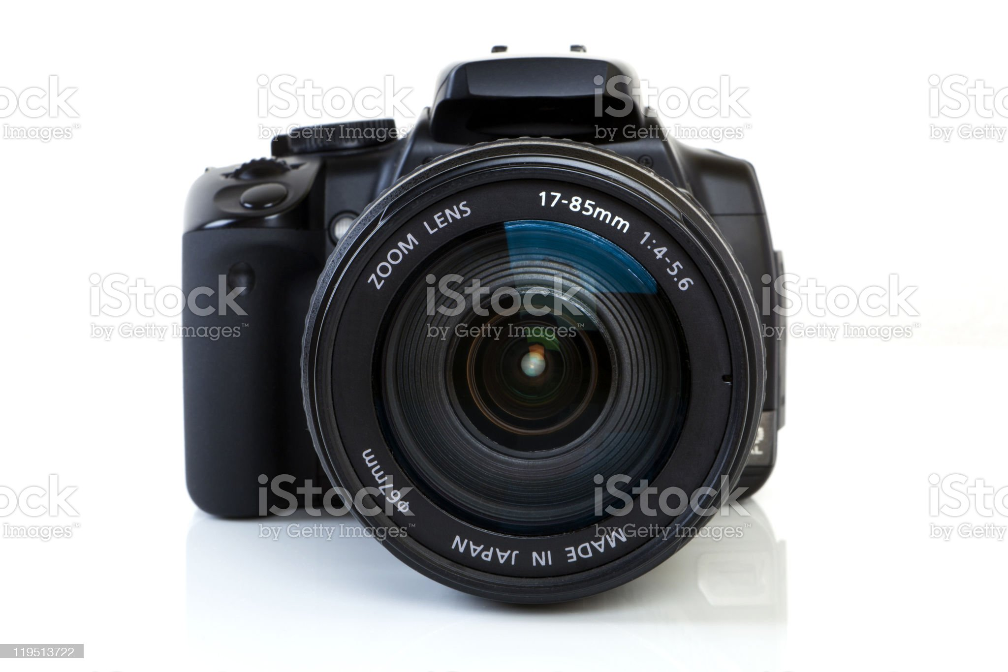 DSLR Camera - front view royalty-free stock photo
