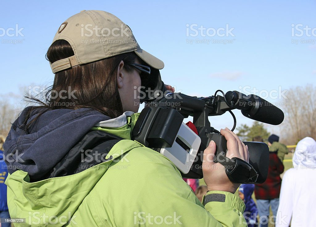 Camera Girl stock photo