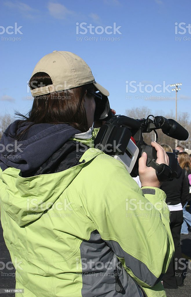 Camera Girl Vertical stock photo