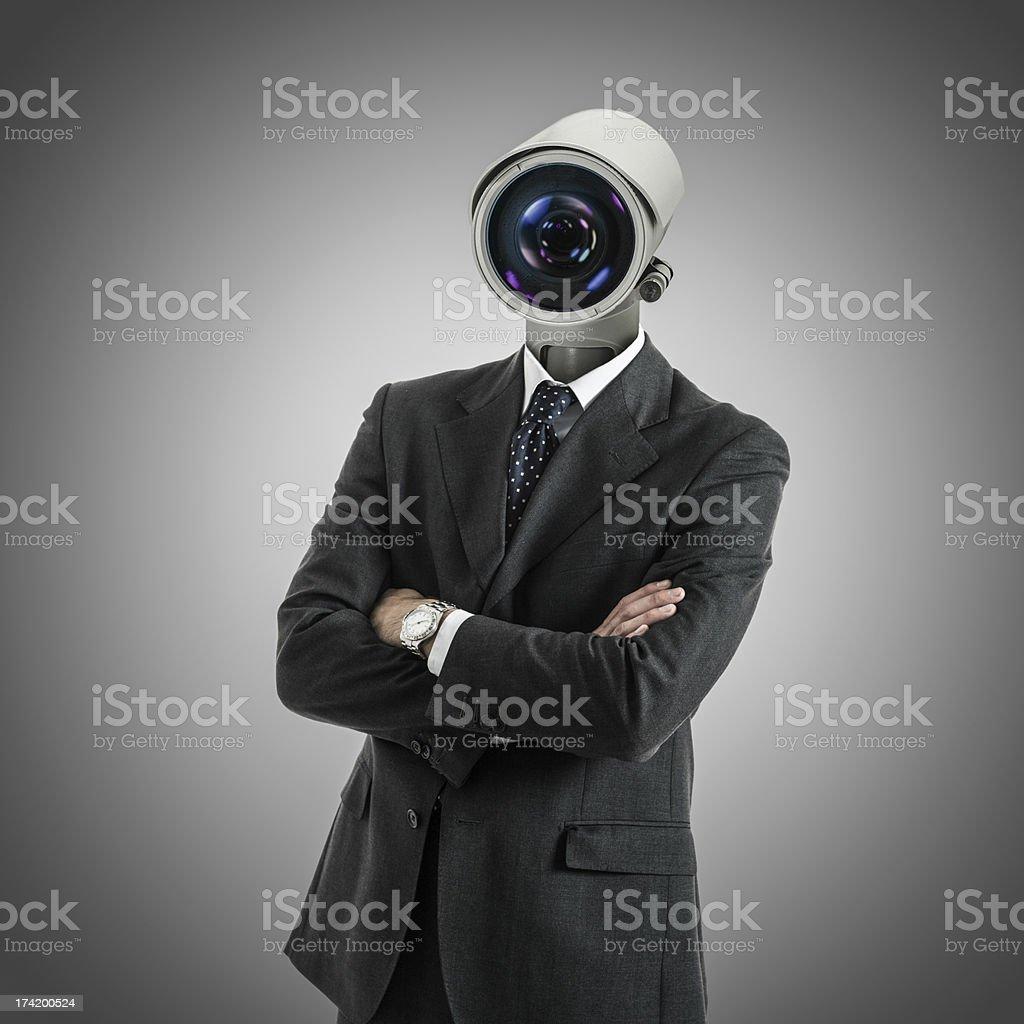 Camera headed man stock photo