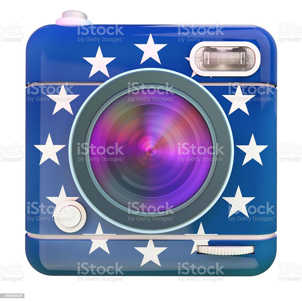 Camera icon Europe stock photo