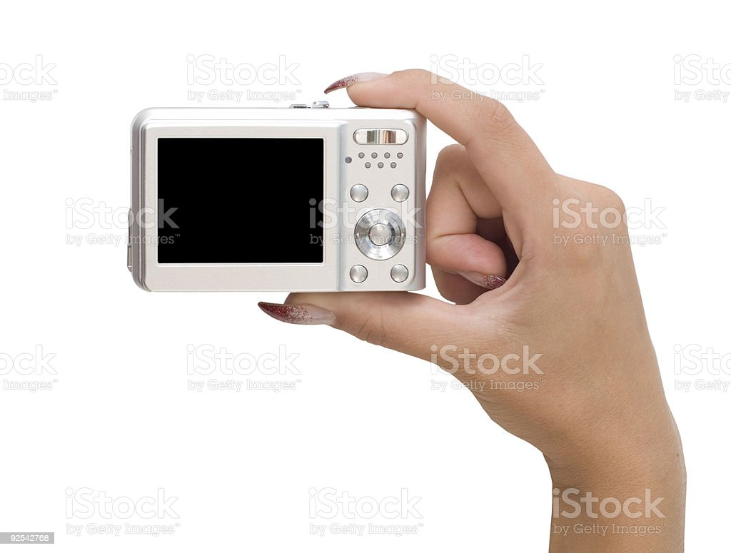 camera in a hand royalty-free stock photo