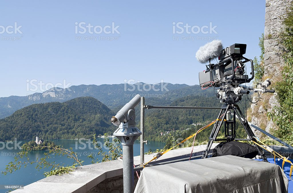 TV Camera in Bled Castle Slovenia royalty-free stock photo