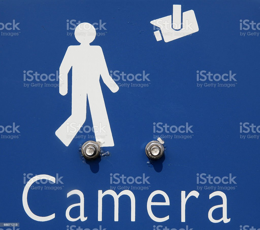 Camera in use sign stock photo