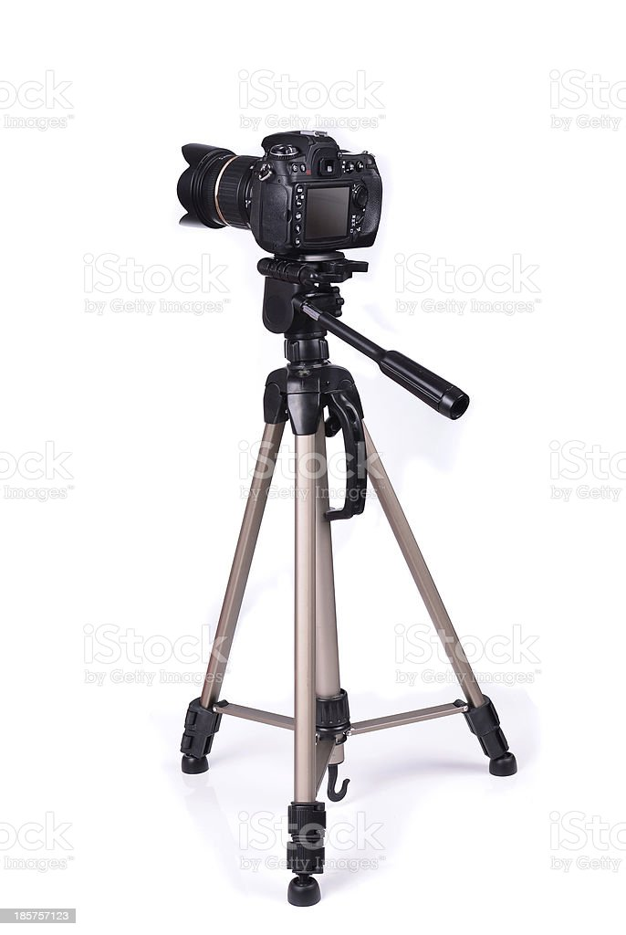 Camera isolated royalty-free stock photo