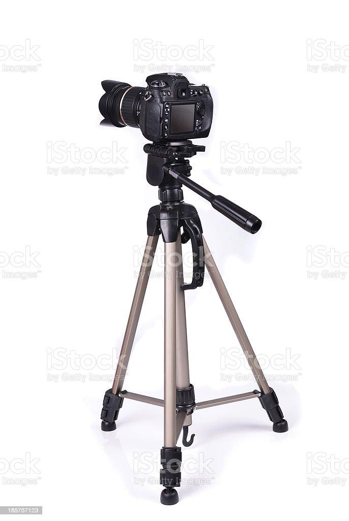 Camera isolated stock photo