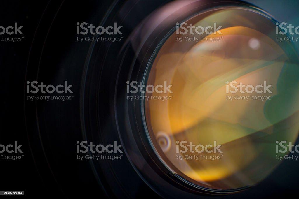 Camera Lens Closeup stock photo