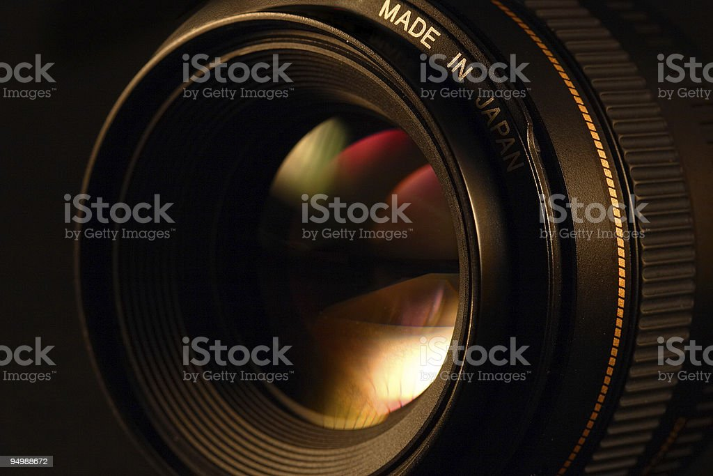 Camera lens close-up royalty-free stock photo
