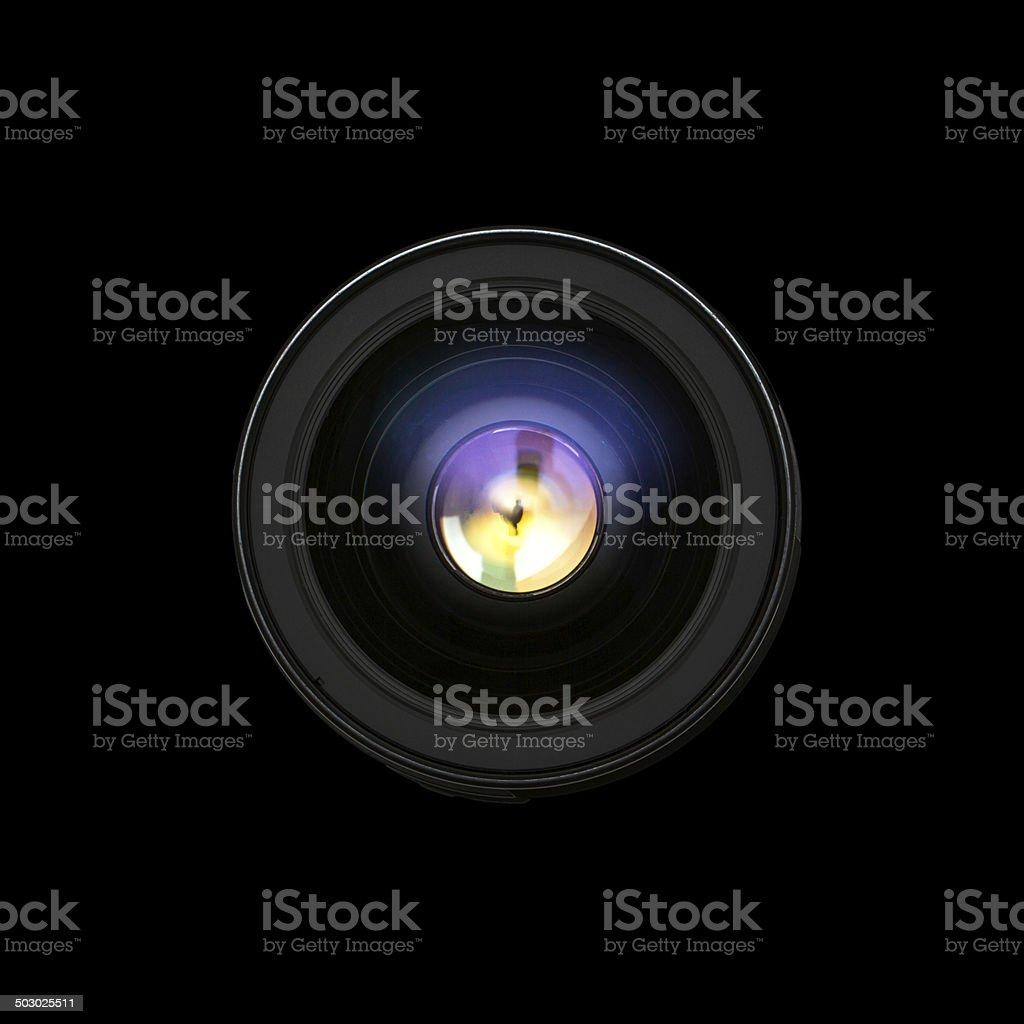 Camera lens front sight. stock photo