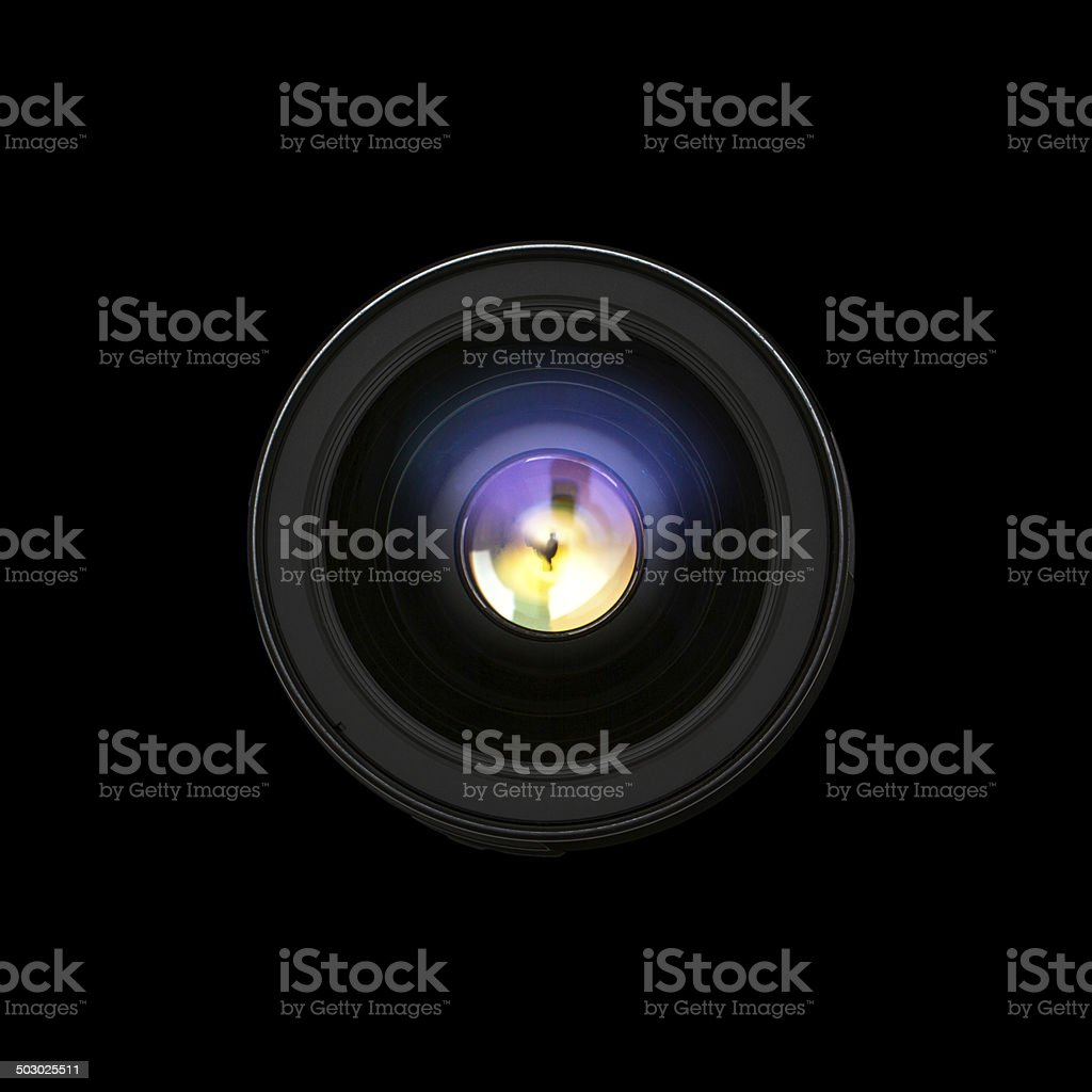 Camera lens front sight. stock photo