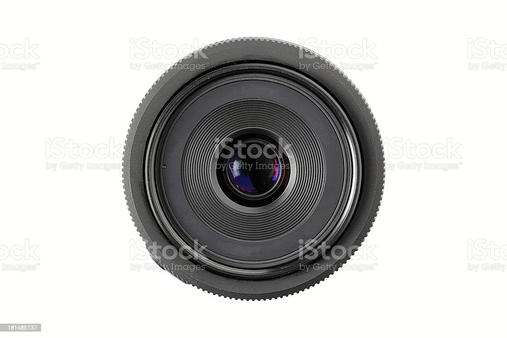 Camera lens isolated on white background royalty-free stock photo