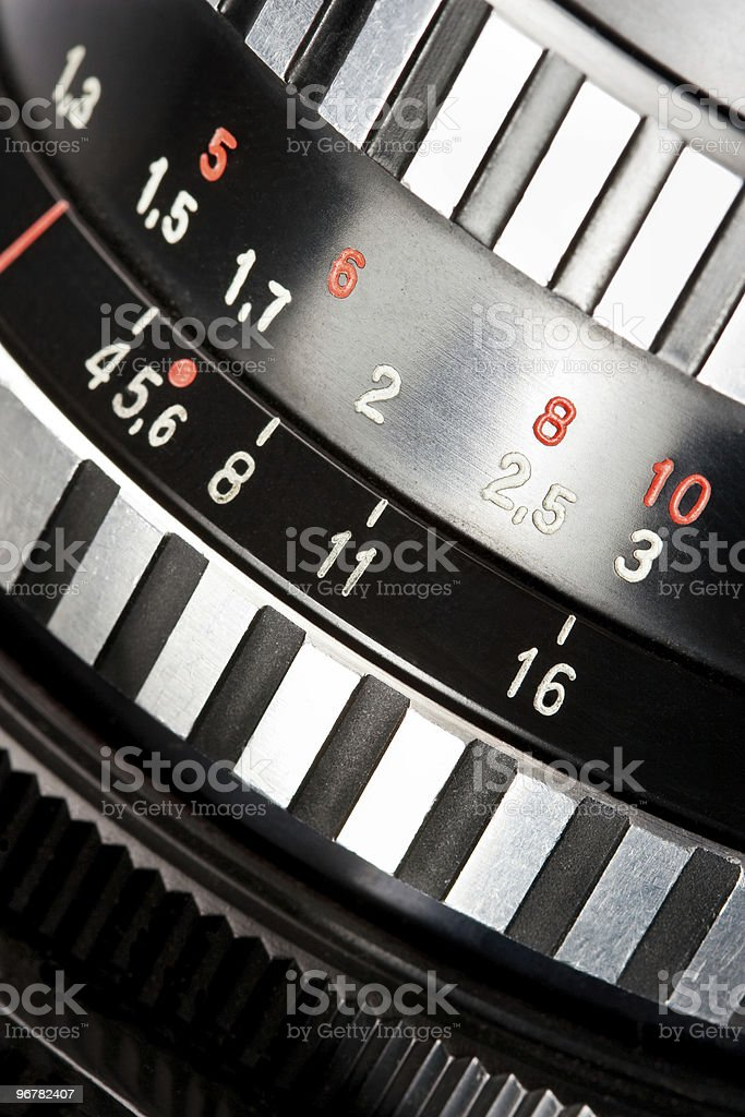 camera lens scale royalty-free stock photo