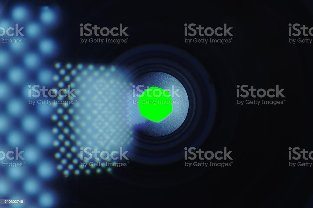 Camera Lens Shutter - Aperture Iris stock photo