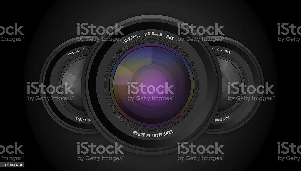 3D Camera Lenses stock photo