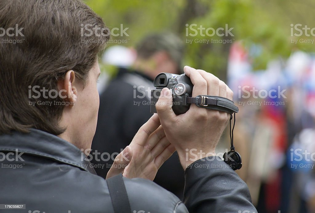 Camera man 2 royalty-free stock photo