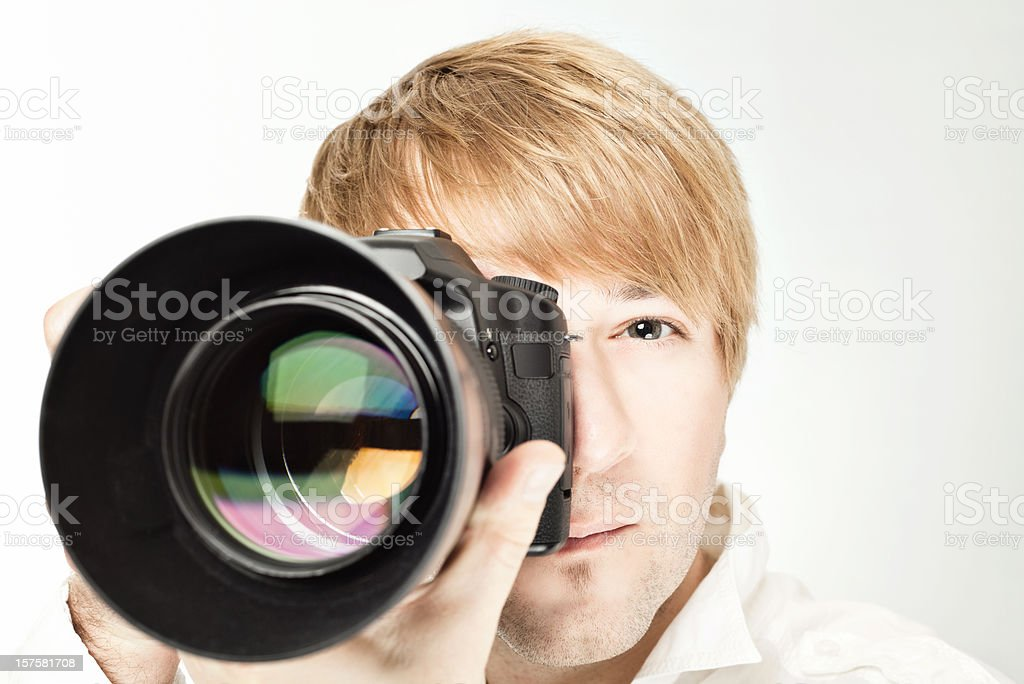 Camera Men stock photo