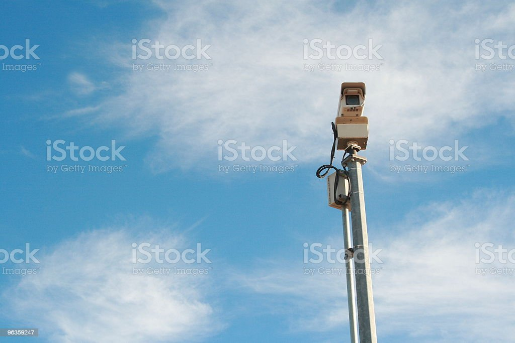 camera mounted high to catch speeding cars royalty-free stock photo