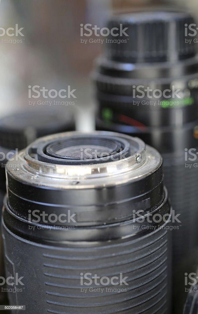 Camera objective stock photo