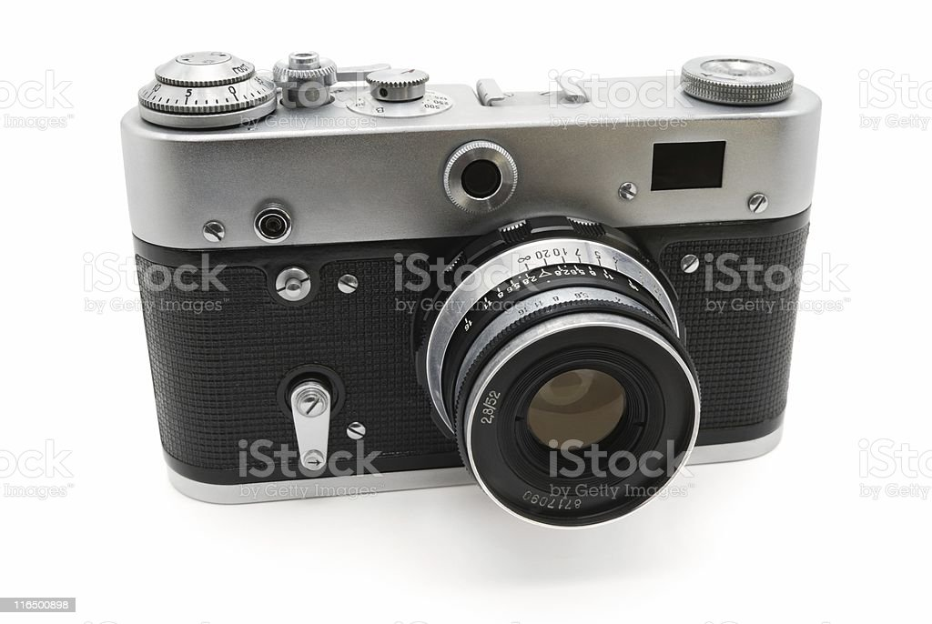 Camera of the last century stock photo