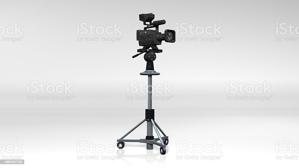 TV Camera on a stand stock photo