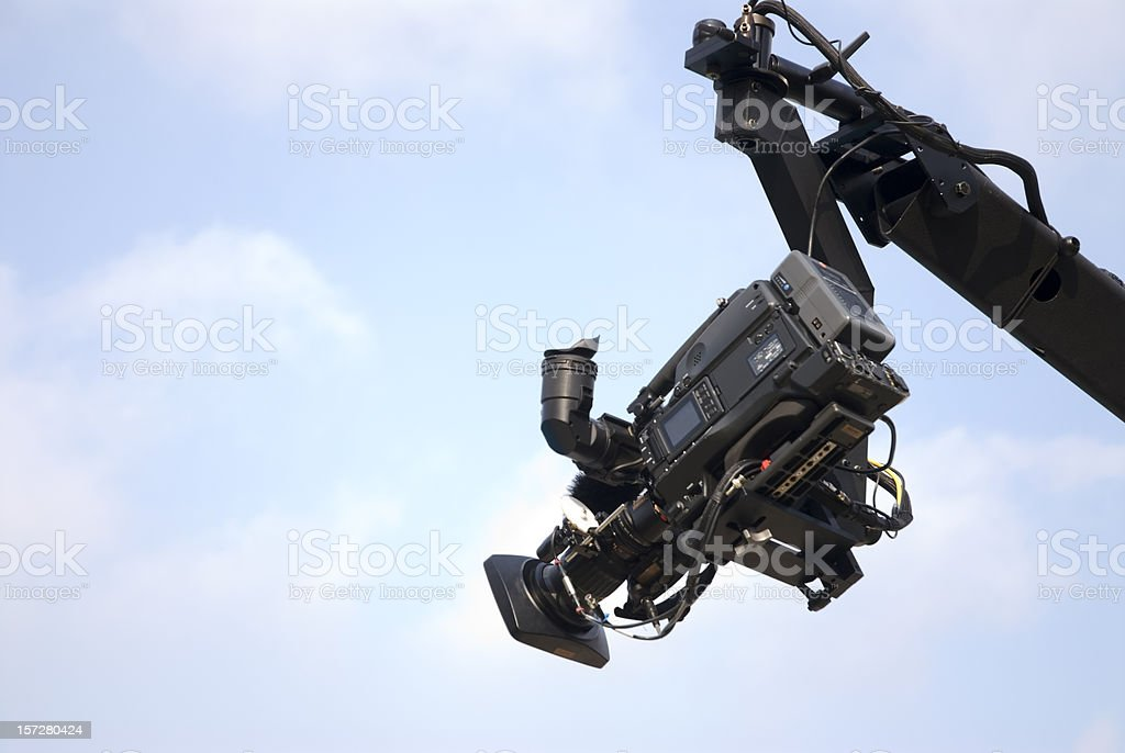 Camera on Crane or Jib stock photo