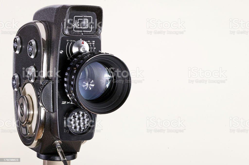 Camera on white stock photo