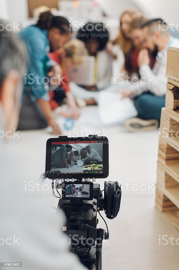 Camera Operator At Work. stock photo