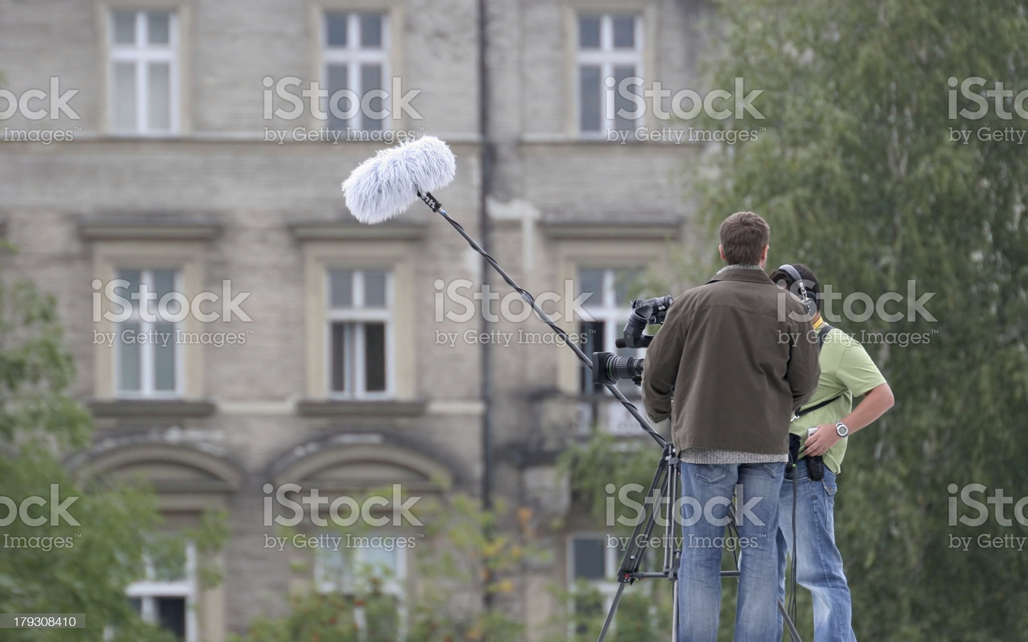 Camera operators during work royalty-free stock photo