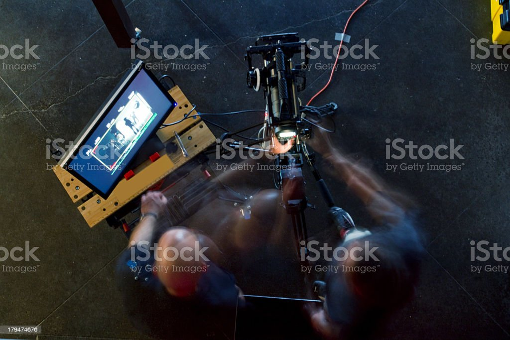 Camera Operatrors in Blurred Motion stock photo