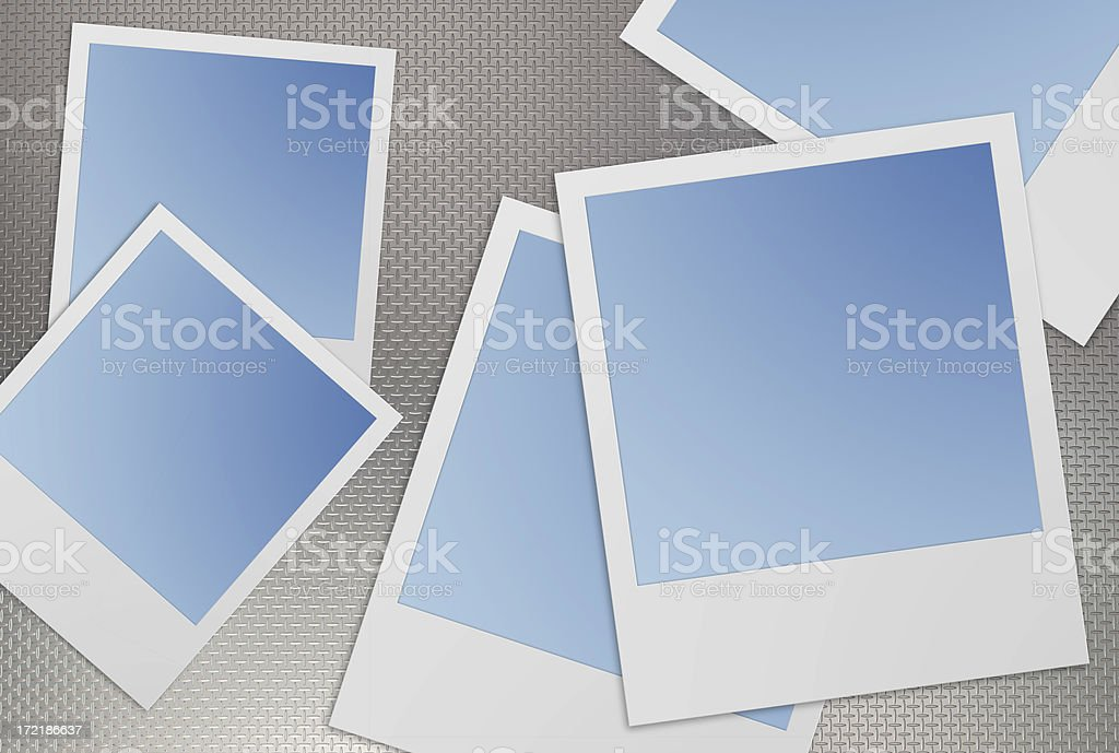 camera picture frame(6 clipping path!) stock photo