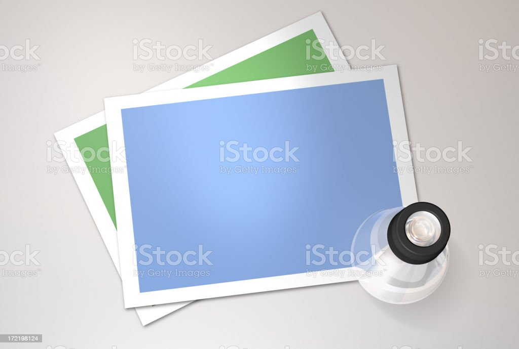 Camera picture frame stock photo