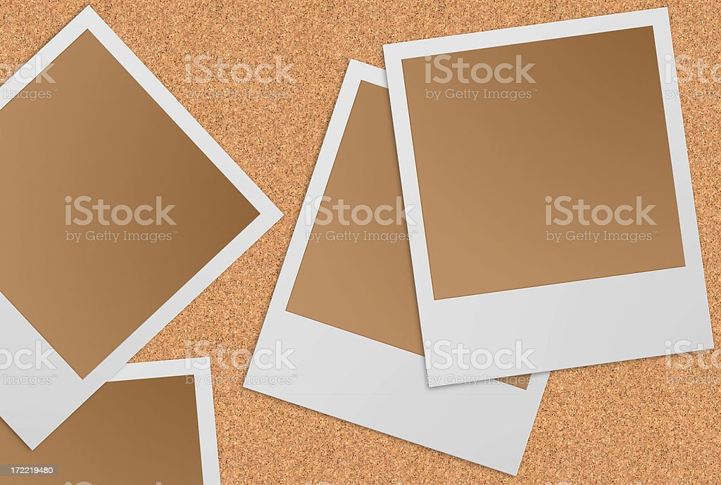 camera picture frame (5 clipping path!) stock photo