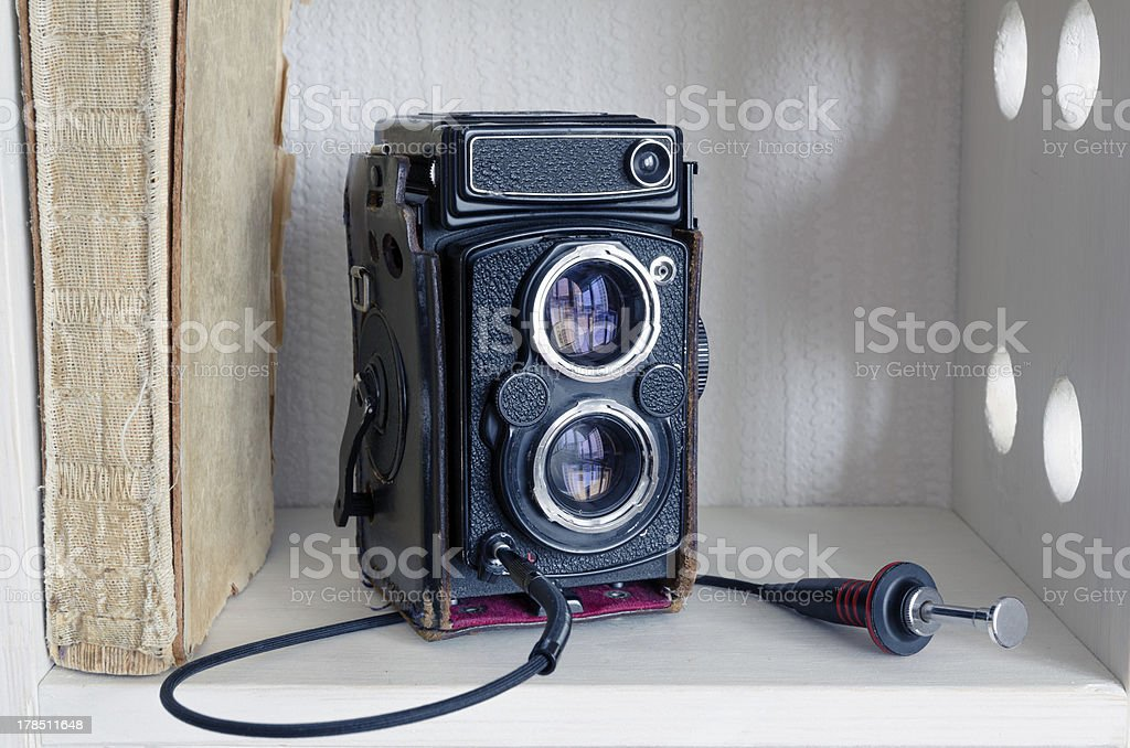 TLR camera royalty-free stock photo