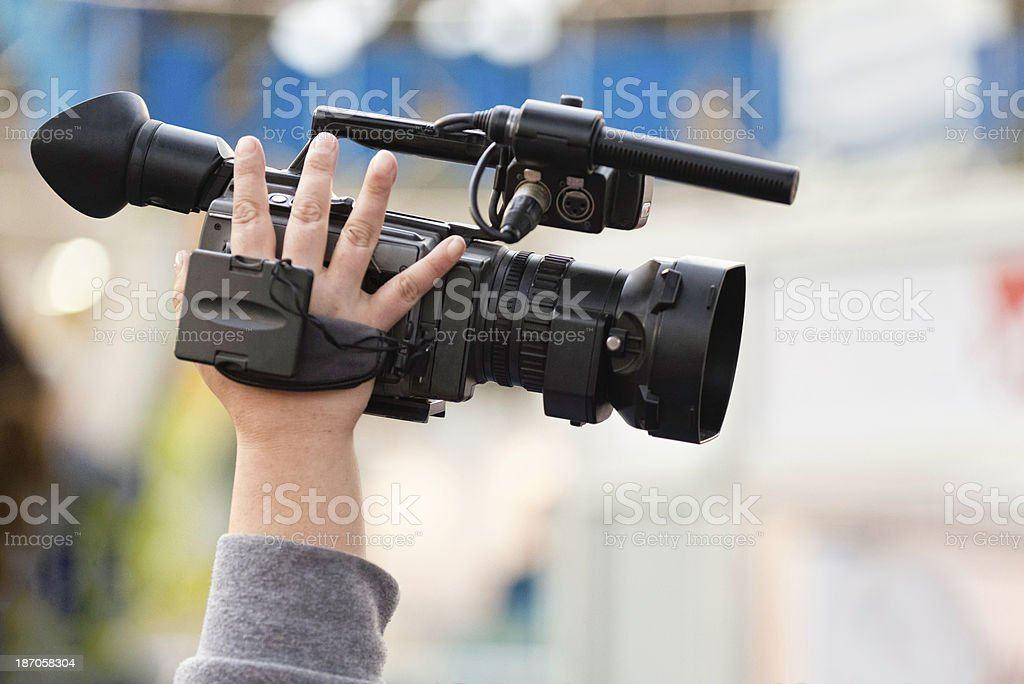 Camera recording royalty-free stock photo