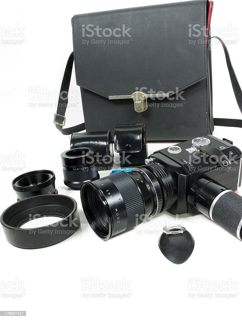 Camera set royalty-free stock photo
