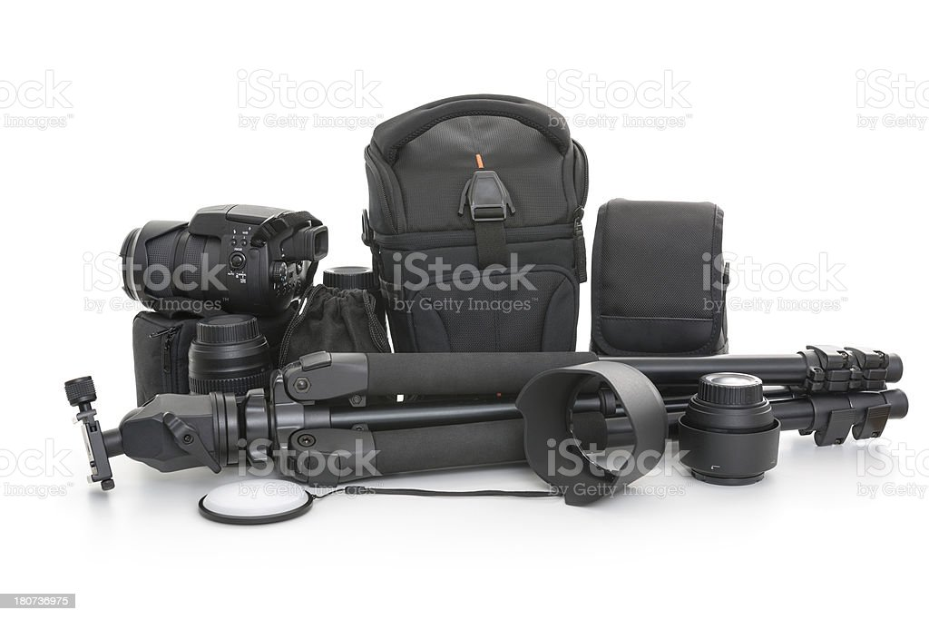 Camera set royalty-free stock photo