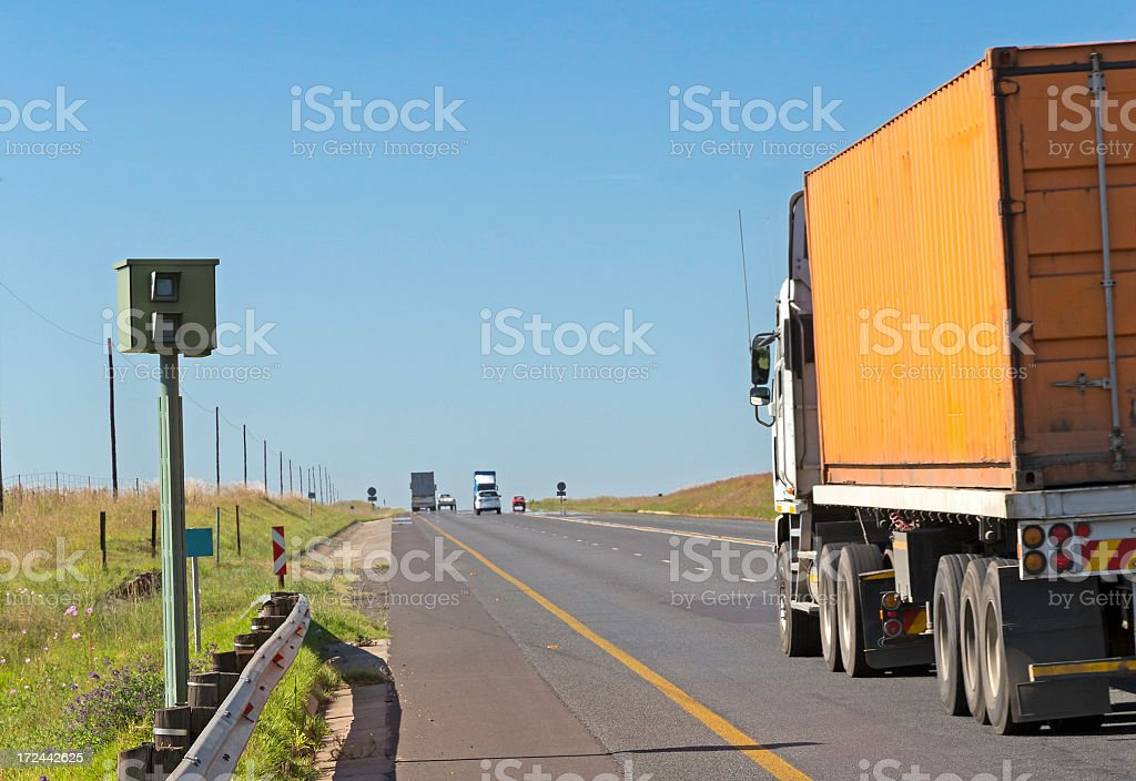 Camera speed trap law enforcement royalty-free stock photo