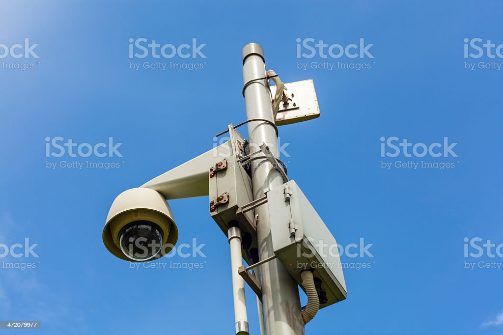 Camera Surveillance with clipping path stock photo