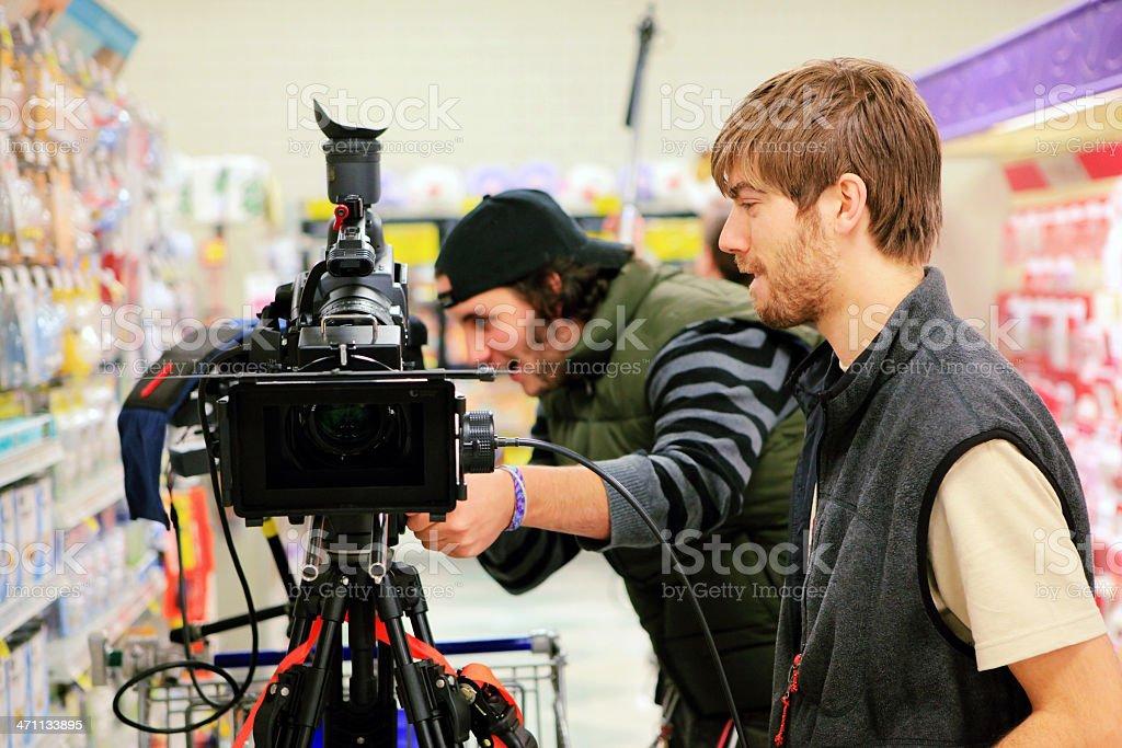 Camera Team stock photo