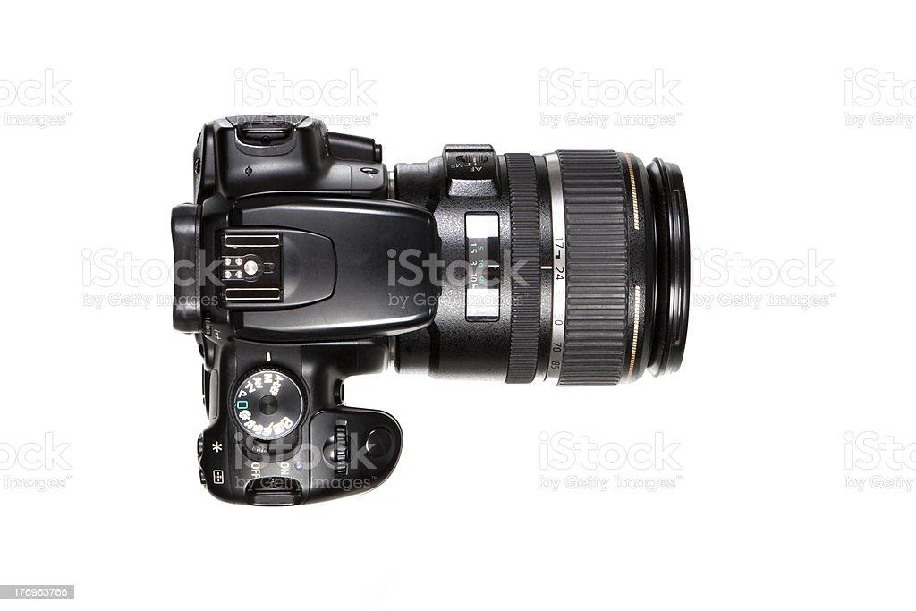 DSLR Camera - top view stock photo