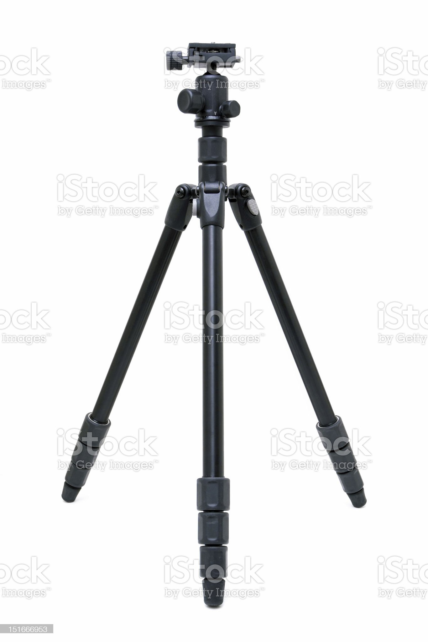 Camera tripod isolated on white background royalty-free stock photo