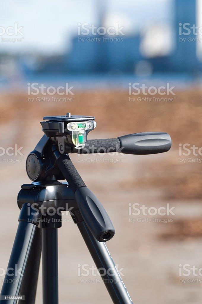 Camera tripod royalty-free stock photo