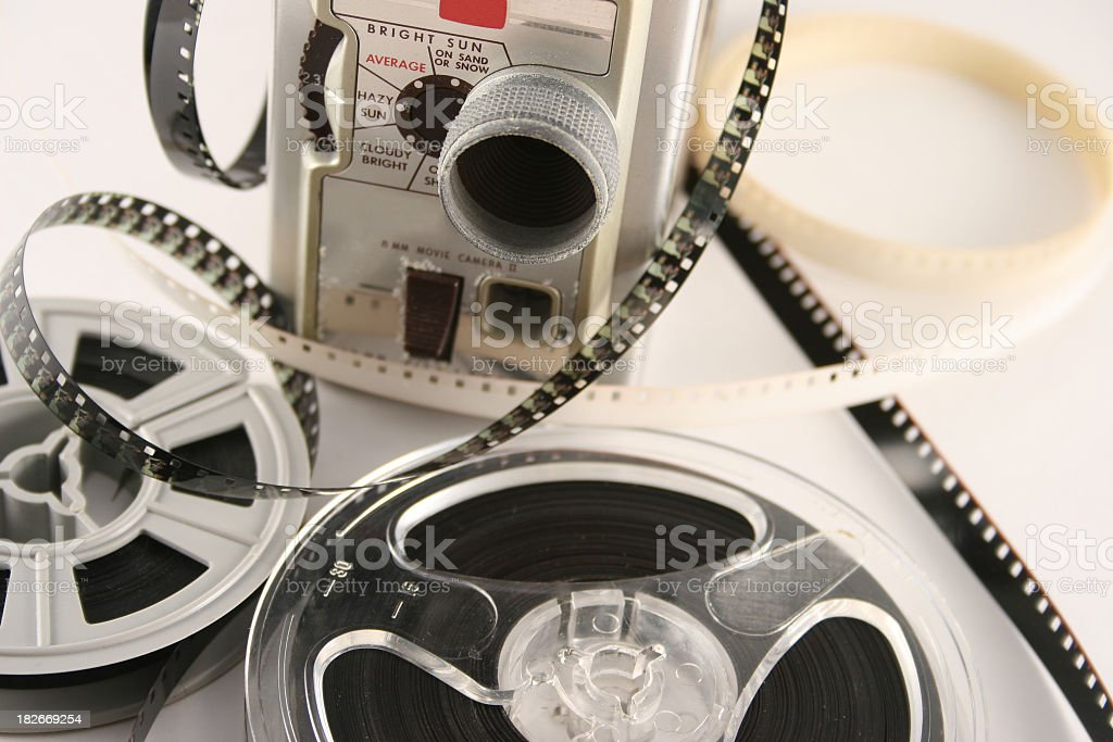 Camera video and films stock photo