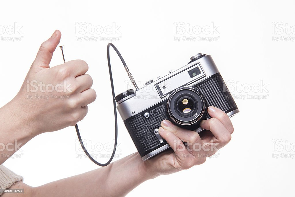 Camera with Cable Release stock photo