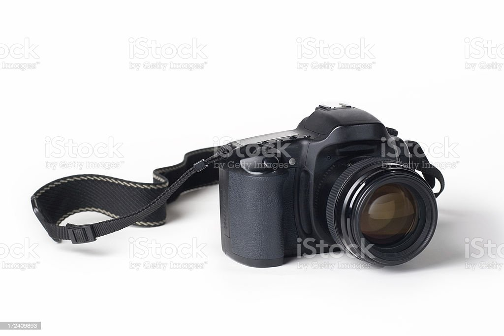 Camera with Strap stock photo