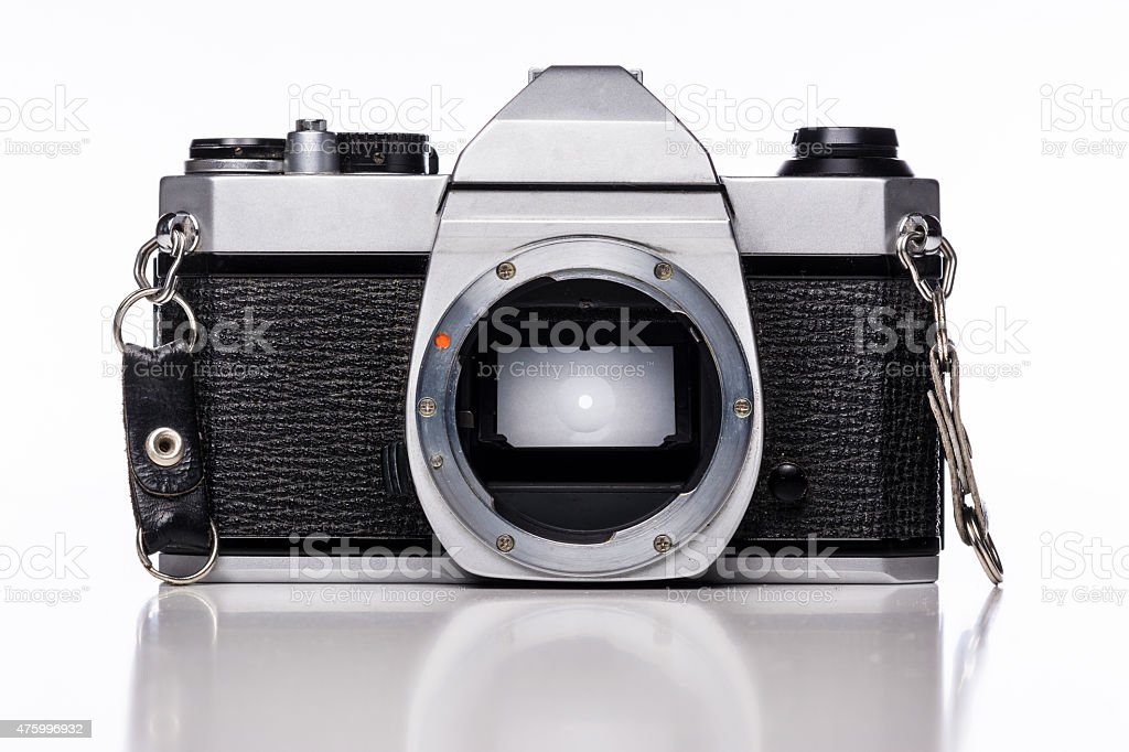 Camera without Lens stock photo