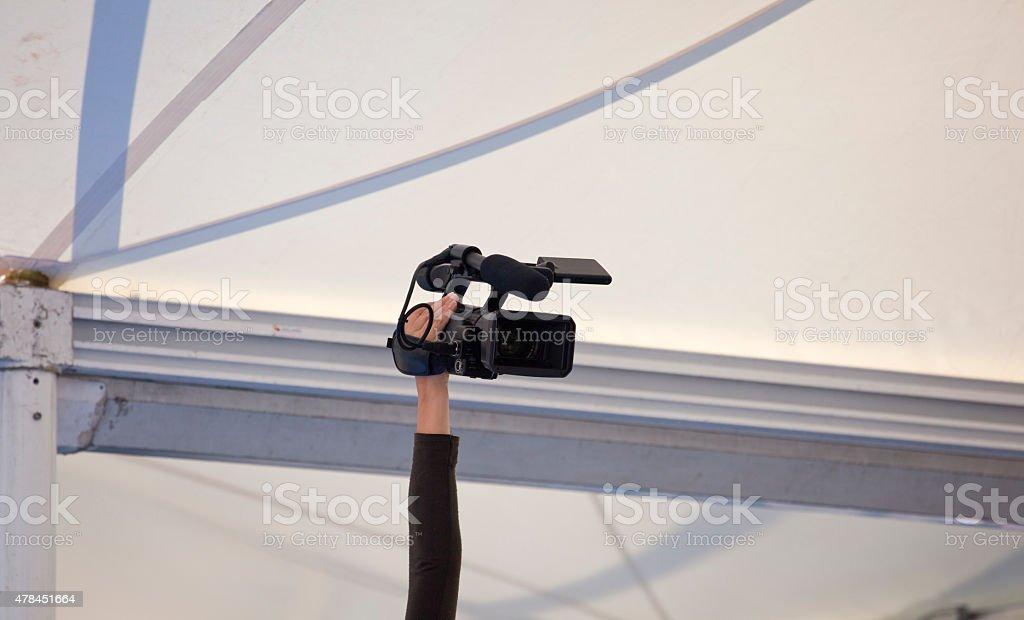 Camera woman stock photo