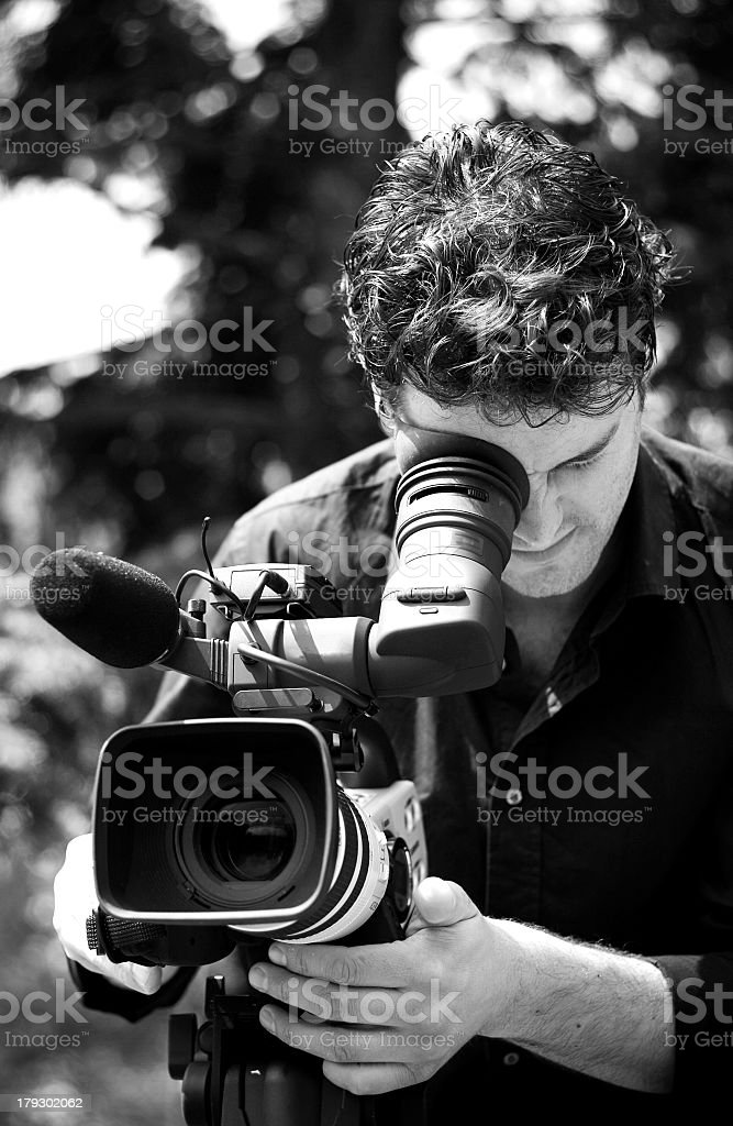 Cameraman in action royalty-free stock photo